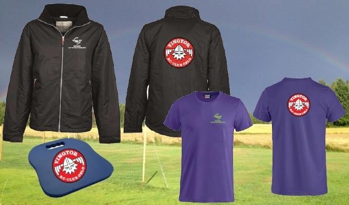 Vingtor har jakker, T-skjorter og sitteunderlag til salgs