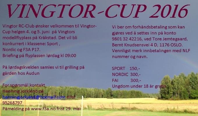 Vingtor ønsker velkommen til Vingtor-Cup 2016